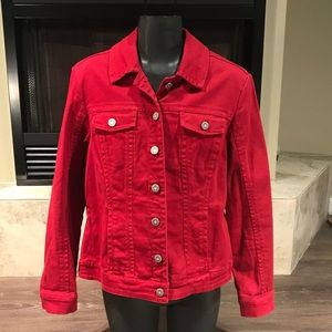 5/$20 Ami Red Jean Jacket, Size Small